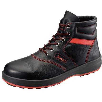 【送料無料】SIMON・シモン 安全靴 編上靴 SL22-R黒/赤 24.5cm 1700240