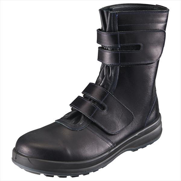 SIMON・シモン 安全靴 マジック式長靴 8538黒 25.0cm1702990