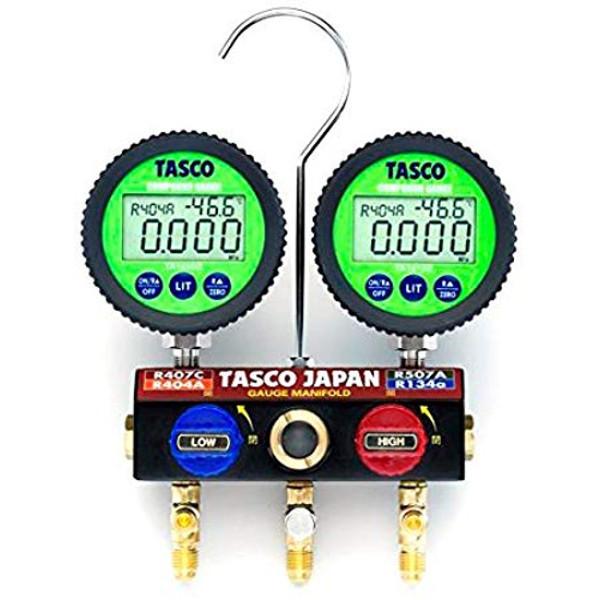【送料無料】 TASCO・イチネンタスコ ボールバルブ式デジタルゲージマニホールド TA124DW