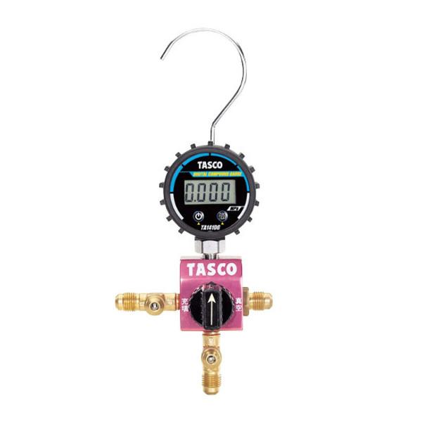【送料無料】 TASCO・イチネンタスコ ボールバルブ式デジタルシングルマニホールド TA123DG