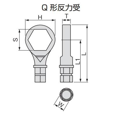 シンプルトルコン 5QH 【送料無料】TONE/前田金属工業 ナットランナー 用反力受