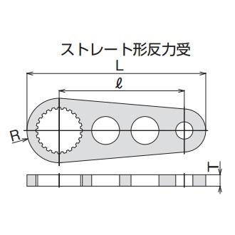 【送料無料】TONE/前田金属工業 パワーデジトルク・電動パワーデジトルク用反力受 50SH