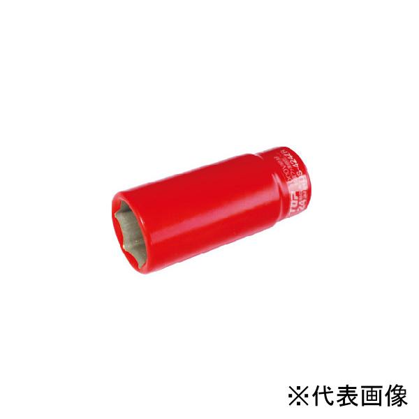【送料無料】TOP・トップ工業 絶縁ディープソケット 差込角9.5mm 対辺寸法24mm DS-324ZR
