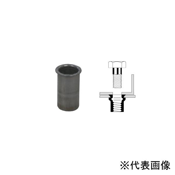 【送料無料】TOP・トップ工業 フランジナット 呼径M10×1.5 カシメ板厚2.5~4.0 AFH-1040SF