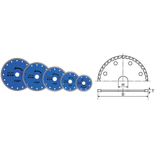【送料無料】TOP/トップ工業 ダイヤモンドホイール 波型タイプ TDW-125