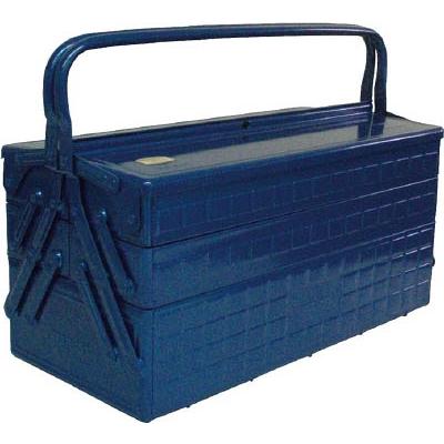 【送料無料】TRUSCO3段式工具箱472X220X343ブルーGT470B【1215663】