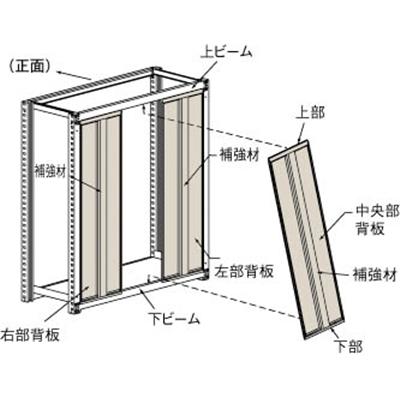【送料無料】TRUSCOM2型棚用はめ込み式背板W1800XH1800SM266【メーカー直送】【4614429】