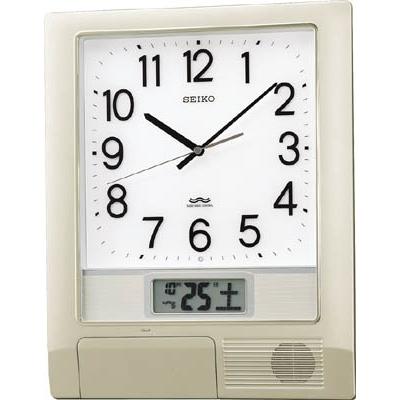 【送料無料】SEIKO電波プログラムクロック 429×345×57 銀色メタリックPT201S【3025683】