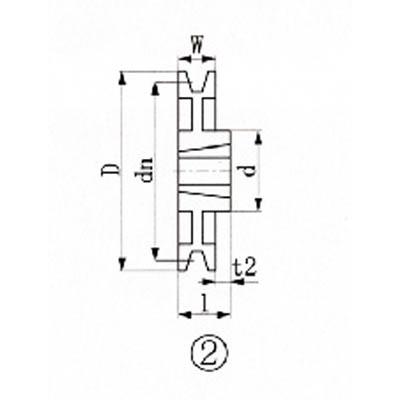 【送料無料】EVNブッシングプーリーSPB300mm溝数1SPB3001【3806570】