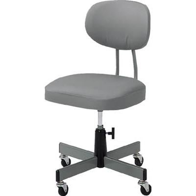 【送料無料】TRUSCO事務椅子ビニールレザー張りグレーT80【5035724】