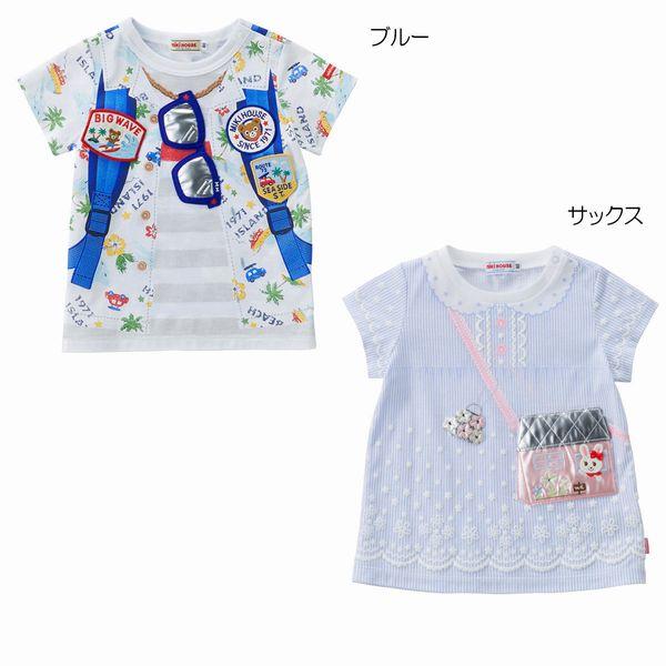 カメラモチーフ半袖Tシャツ (100cm・110cm) ミキハウス プッチー 【MIKI HOUSE】