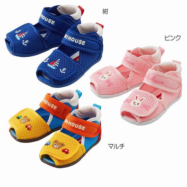ミキハウス(MIKIHOUSE) ダブルラッセルベビーサンダル(子供靴)