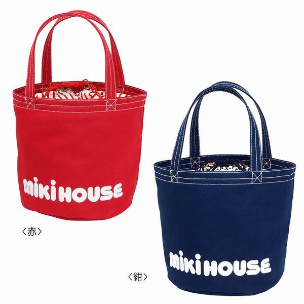 ミキハウス(MIKIHOUSE) バケツ型 ロゴトートバッグ