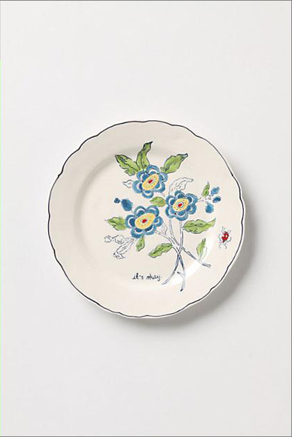 ANTHROPOLOGIE*アンソロポロジー Amicable Aster Dessert Plate 【ギフト】【ラッピング】【結婚祝い】