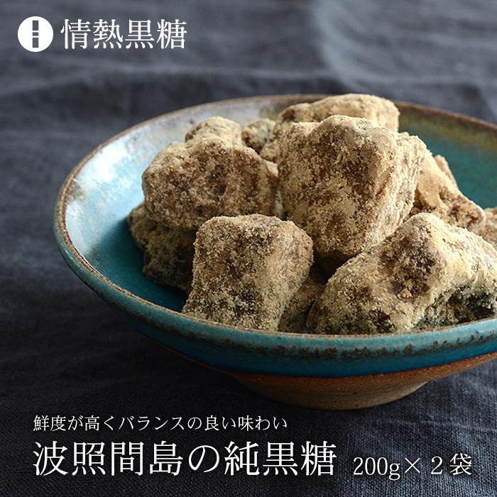 鮮度が高いと評される OUTLET SALE 甘過ぎない黒糖 ふるさと割 波照間島の黒糖 200g×2袋 日本最南端の有人島 波照間島の純黒糖 送料無料