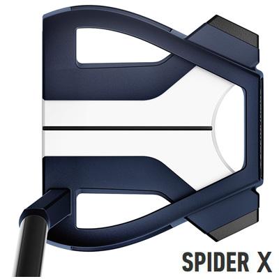 ★お買い物マラソン限定クーポン配布中★《今日だす》テーラーメイド 2019 スパイダー X ブルー×ホワイト スモールスラント パター