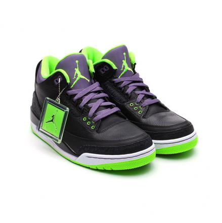 wholesale dealer d4064 d2c67 air jordan(에어 조던) 3 retro(레트르) joker(조우커) (136064-018)  black/green/purple/white 맨즈・남성용