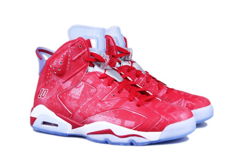 Nike (Nike) air jordan (Air Jordan) 6 vi slam dunk (slam dunk) hanamichi  sakuragi (Sakuragi hanamichi) (717302-600) red wht  for men-male  8c9d29058