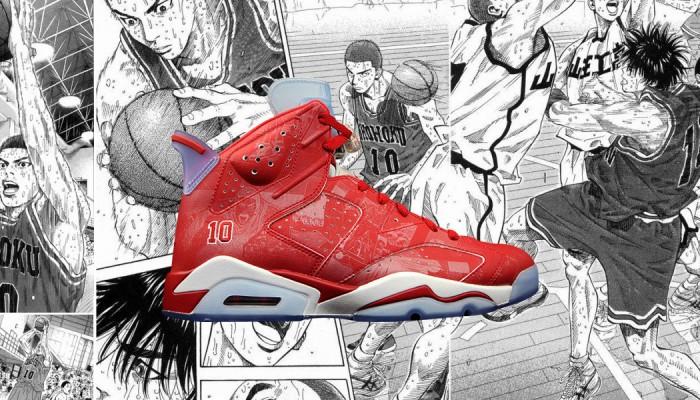 8114ad031f1f09 Nike (Nike) air jordan (Air Jordan) 6 vi slam dunk (slam dunk) hanamichi  sakuragi (Sakuragi hanamichi) (717302-600) red wht  for men-male