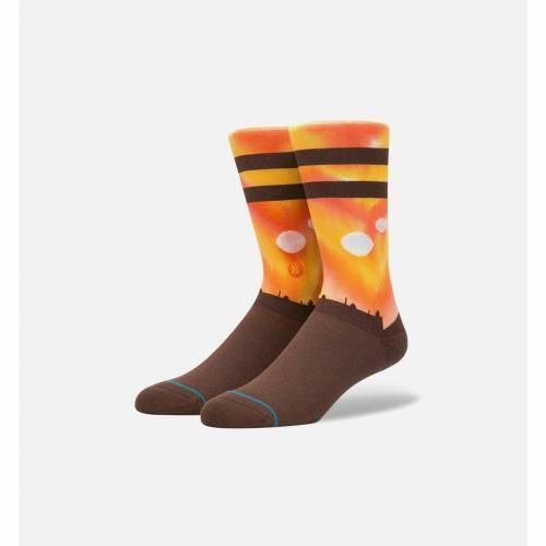 ファッションブランド カジュアル ファッション スタンス 爆安プライス STANCE 靴下 橙 オレンジ スターウォーズ MEN'S レッグ 下着 下 2020モデル ナイトウエア TATOONIE ORANGE メンズ インナー SOCKS