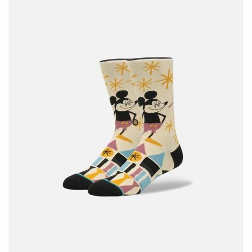 ファッションブランド カジュアル ファッション スタンス STANCE ついに再販開始 靴下 黒色 ブラック MEN'S YUSUKE HANAI 日本 下 SOCKS MICKEY BLACK インナー レッグ MULTI 下着 ナイトウエア メンズ