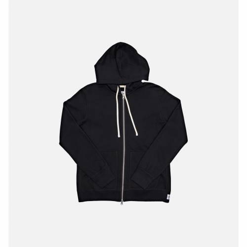 ファッションブランド カジュアル ファッション ジャケット パーカー ベスト レイニングチャンプ 最新アイテム REIGNING CHAMP BLACK 黒色 FULL 毎週更新 フーディー メンズファッション トップス ブラック ジップフーディー MENS