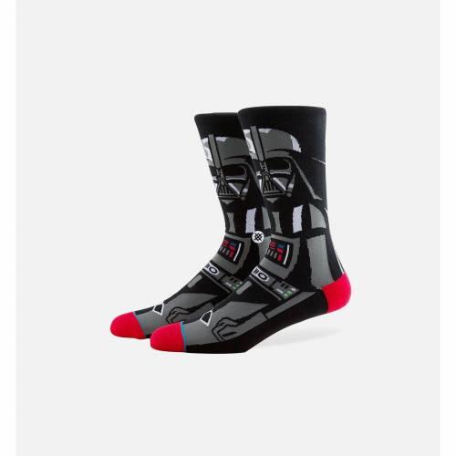 ファッションブランド カジュアル ファッション スタンス STANCE クルー 靴下 黒色 ブラック スターウォーズ SOCKS インナー 最安値 BLACK レッグ CREW 下 全国どこでも送料無料 下着 ナイトウエア VADER メンズ
