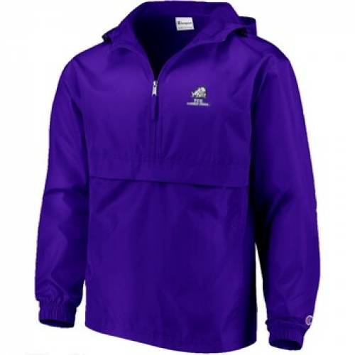 チャンピオン CHAMPION チャンピオン 紫 パープル 【 PURPLE CHAMPION TCU HORNED FROGS PACKABLE JACKET 】 メンズファッション コート ジャケット
