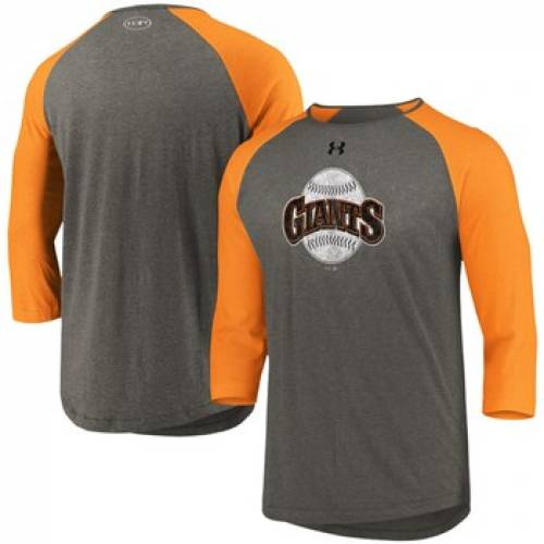 UNBRANDED ジャイアンツ クーパーズタウン コレクション ラグラン パフォーマンス Tシャツ 灰色 グレ 【 RAGLAN UNBRANDED UNDER ARMOUR GRAY ORANGE SAN FRANCISCO GIANTS COOPERSTOWN COLLECTION TRIBLEND 3 4SLEEVE PERFORM