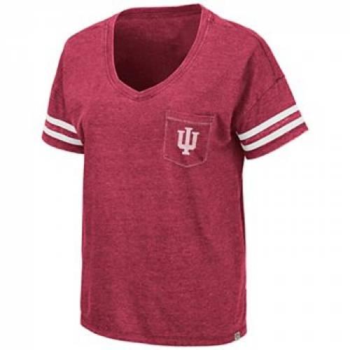 NCAA インディアナ フォーラム Tシャツ 赤 レッド 【 RED NCAA INDIANA HOOSIERS PUBLIC FORUM TEE IND 】 レディースファッション トップス Tシャツ カットソー