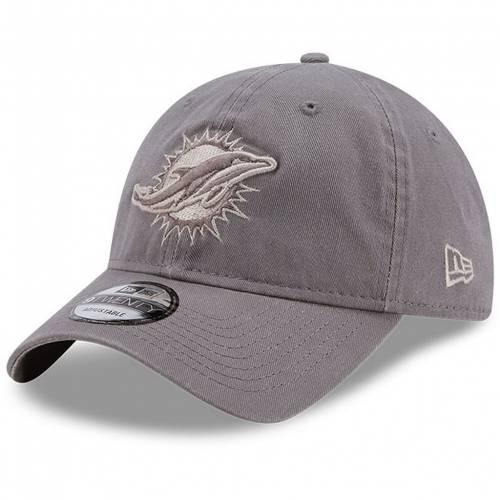 9TWENTY NEW  メンズキャップ バッグ ERA HAT ドルフィンズ 】 マイアミ DOL コア 帽子 グレイ GREY 灰色 グレー NEW CLASSIC キャップ ニューエラ ERA CORE クラシック GRAY ADJUSTABLE 帽子 【