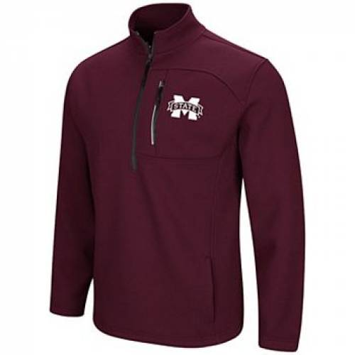 COLOSSEUM スケートボード 赤 レッド 【 STATE RED COLOSSEUM MAROON MISSISSIPPI BULLDOGS TOWNIE HALFZIP PULLOVER JACKET MST 】 メンズファッション コート ジャケット