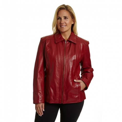 EXCELLED レザー ジャケット 赤 レッド  【 RED EXCELLED PLUS SIZE LEATHER SCUBA JACKET 】