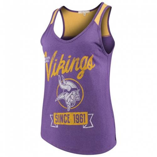 ファッションブランド カジュアル ファッション タンクトップ UNBRANDED 25%OFF 紫 パープル ミネソタ バイキングス FOOD JUNK MVK 超人気 専門店 レディースファッション サイドライン トップス PURPLE SIDELINE