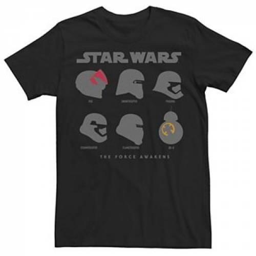 STAR WARS ヘルメット Tシャツ 黒 ブラック 【 HELMET BLACK STAR WARS THE FORCE AWAKENS SILHOUETTE TEE 】 メンズファッション トップス Tシャツ カットソー:スニケス