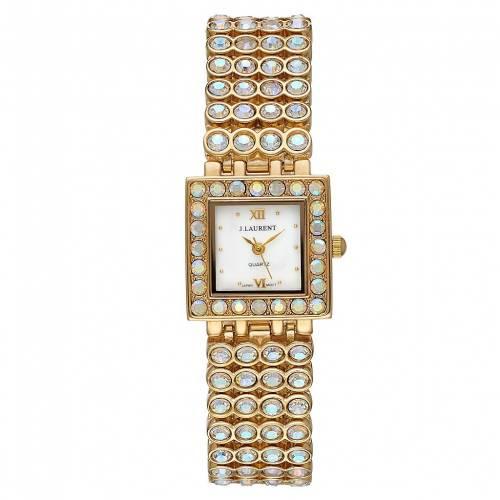 2021年激安 JACQUES LAURENT ウォッチ ゴールド 時計 金色 GOLD ゴールド【 腕時計 WATCH JACQUES LAURENT CRYSTAL ACCENT GOLD TONE】 腕時計 レディース腕時計, クマノガワチョウ:79288339 --- coursedive.com