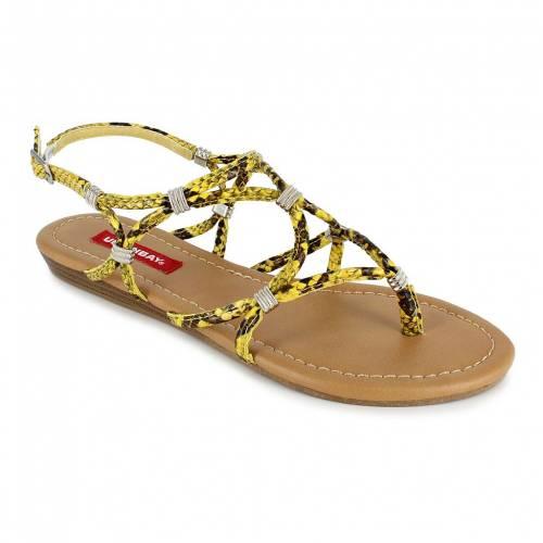 ファッションブランド カジュアル 評価 ファッション サンダル ユニオンベイ UNIONBAY 黄色 YELLOW STRAPPY イエロー 格安 価格でご提供いたします GREENE SNAKE SANDALS