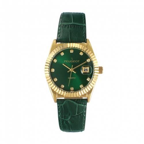 特売 PEUGEOT レザー ウォッチ 時計 緑】 グリーン【 WATCH 緑 GREEN 時計 PEUGEOT LEATHER】 腕時計 レディース腕時計, フソウチョウ:4cbe2ad4 --- coursedive.com