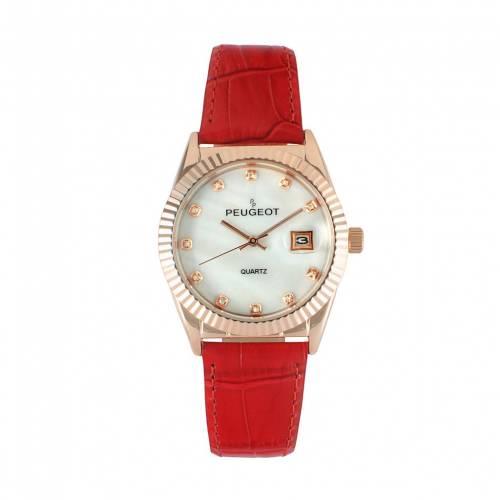 最新な PEUGEOT レザー ウォッチ 時計 赤 レッド【 ウォッチ WATCH 赤【 RED PEUGEOT LEATHER】 腕時計 レディース腕時計, 帯専門店おびや:7032c237 --- coursedive.com