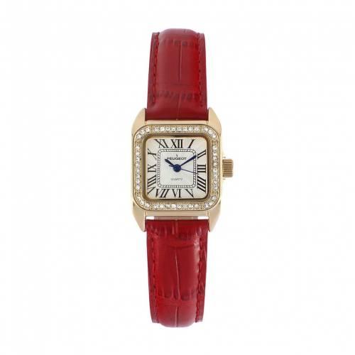 【ラッピング不可】 PEUGEOT CRYSTAL レザー【 ウォッチ 時計 赤 レッド【 WATCH RED WATCH PEUGEOT CRYSTAL LEATHER】 腕時計 レディース腕時計, 魚甲本店:2bc1a12f --- coursedive.com