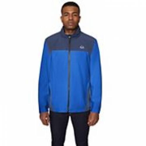 HALITECH 青 ブルー 【 BLUE HALITECH COLORBLOCK STRETCH ZIPFRONT JACKET 】 メンズファッション コート ジャケット