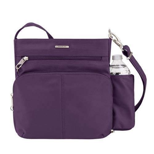 ファッションブランド カジュアル ファッション アクセサリー 大好評です TRAVELON クラシック バッグ 紫 ANTITHEFT CLASSIC PURPLE 正規激安 クロスボディーバッグ パープル