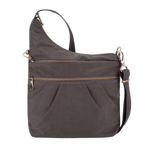 ファッションブランド お得セット カジュアル ファッション アクセサリー TRAVELON クロスボディーバッグ ANTITHEFT バッグ SIGNATURE SMOKE 価格