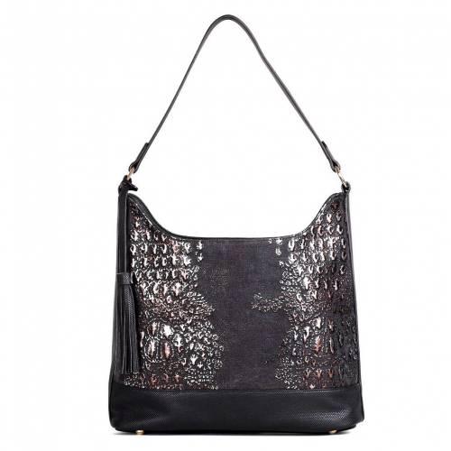 ファッションブランド カジュアル ファッション アクセサリー KARLA HANSON バッグ 黒色 RFID 現金特価 HOBO BLACK BLOCKING EVA ブラック BAG 在庫一掃