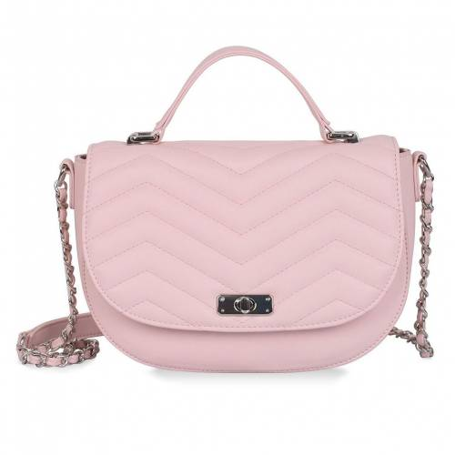 ファッションブランド カジュアル ファッション アクセサリー KARLA HANSON 今季も再入荷 バッグ ピンク BAG CROSSBODY 新着 SABRINA SADDLE RFID PROTECTION WITH PINK