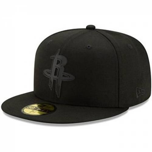メンズキャップ 59FIFTY 】 黒色 帽子 ERA BLACK 帽子 【 NEW RKT ハーフ ヒューストン ロケッツ BACK ニューエラ  HAT HALF ブラック バッグ キャップ FITTED NEW ERA