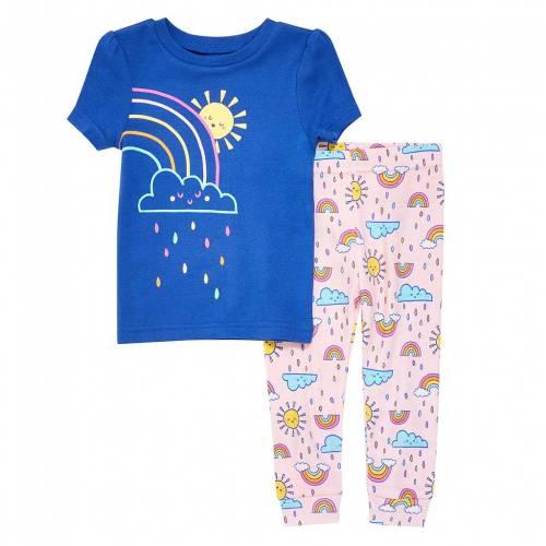 即納 ファッションブランド カジュアル ファッション 驚きの価格が実現 虹色 レインボー ジュニア RAINBOW DUDS SET PAJAMA キッズ CUDDL