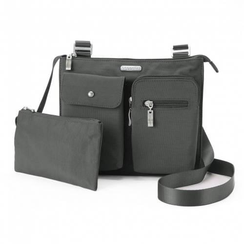 ファッションブランド カジュアル ファッション アクセサリー 完全送料無料 バッガリーニ BAGGALLINI バッグ EVERYTHING MEDIUM CHARCOAL BAG チャコール オンラインショップ