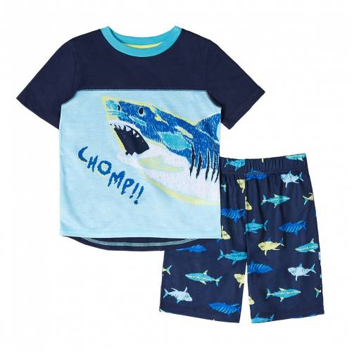 ファッションブランド カジュアル ファッション ショーツ ハーフパンツ 青色 ブルー シャーク ジュニア キッズ SHORTS 激安通販 CUDDL 420 BLUE S TOP SET PAJAMA DUDS 大人気! SHARK