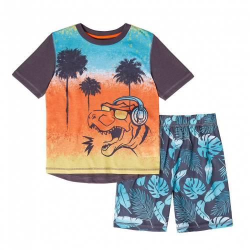 ファッションブランド カジュアル ファッション ショーツ セール特価品 ハーフパンツ 橙 オレンジ ジュニア キッズ ORANGE TOP SHORTS 直営ストア S SET DINO DUDS CUDDL PAJAMA 420
